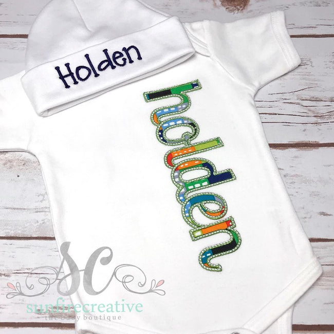 Boy Coming Home Outfit - Persaonlized Baby Outfit - Sunfire Creative Baby Boutique