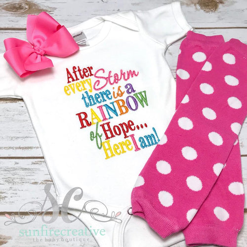 After Every Storm Rainbow Baby Bodysuit - Rainbow Baby Shirt