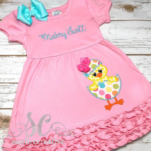 Easter Chick Dress - Girls Easter Dress