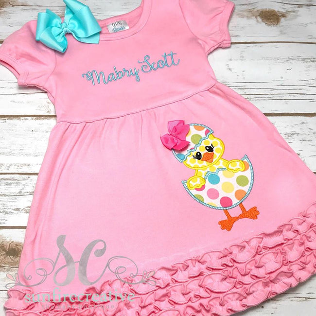 Easter Chick Dress - Girls Easter Dress - Sunfire Creative Baby Boutique