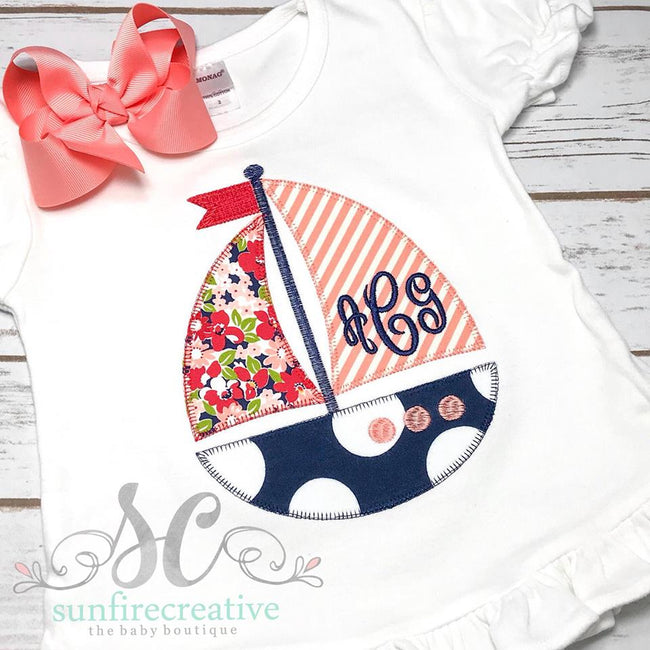 Girl SailBoat Outfit - Summer Outfit - Sunfire Creative Baby Boutique