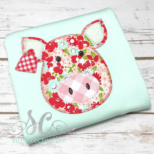 Mint, Coral and Red Pig Shirt
