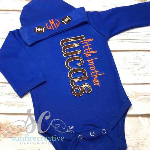 Blue Boy Coming Home Outfit - Little Brother Football Gown
