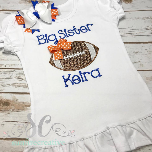 Big Sister Football Shirt - Big Sister Shirt - Sunfire Creative Baby Boutique