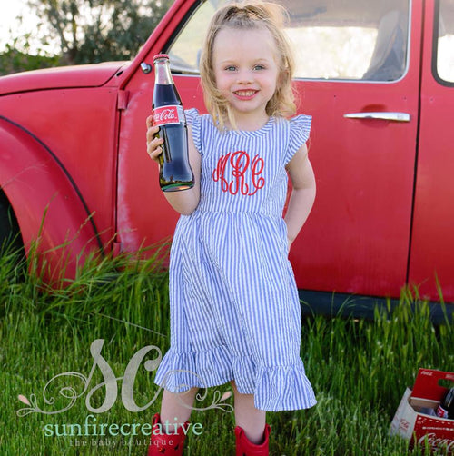Girls Summer Dress - Monogrammed Girl Dress