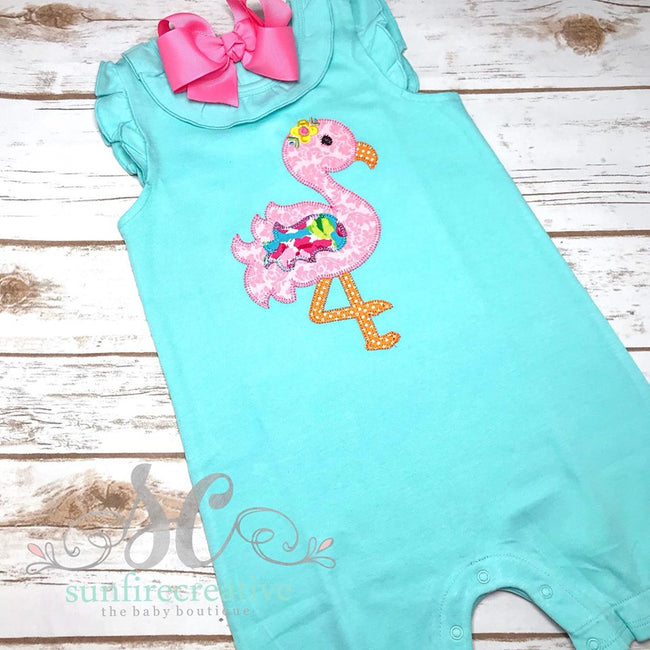 Flamingo Outfit - Girls Flamingo Romper