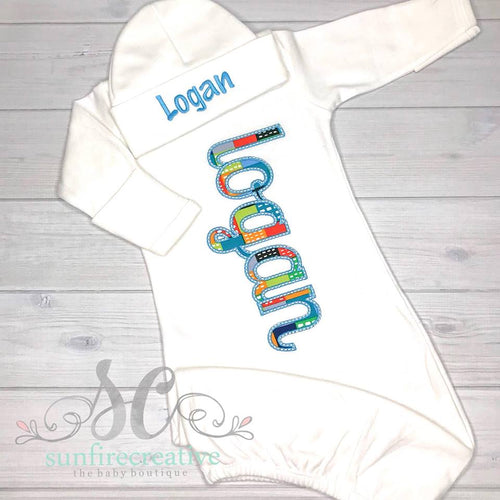Baby Boy Gown - Coming Home Outfit
