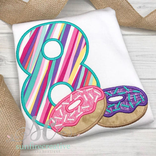 Birthday Shirt for Girls - Donut Birthday Shirt