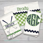 Burp Cloth Set - Boy Burp Cloth Set - Sunfire Creative Baby Boutique