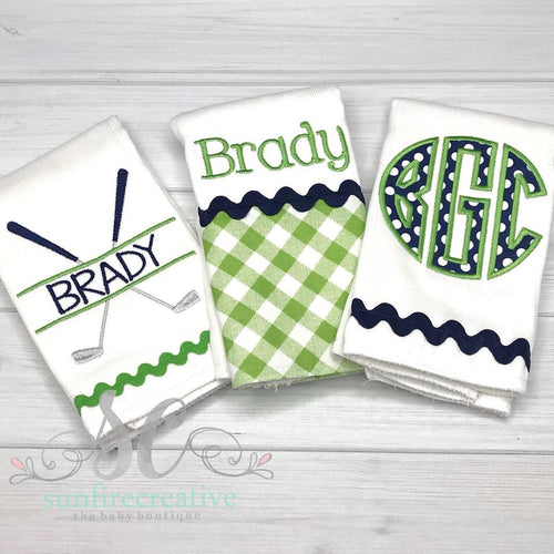 Burp Cloth Set - Boy Burp Cloth Set