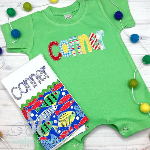 Baby Boy Personalized Romper