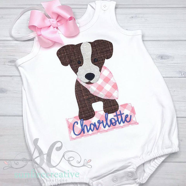 Bandana Girl Puppy Bubble - Girl Bubble - Sunfire Creative Baby Boutique