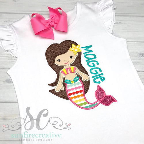 Girls Mermaid Shirt - Girl Summer Shirt