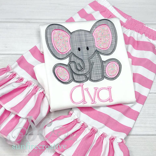 Girls Summer Elephant Outfit