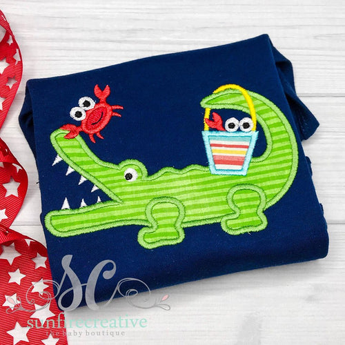 Boy Alligator Shirt - Summer Shirt