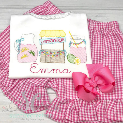 Girls Summer Lemonade Shirt - Summer Outfit