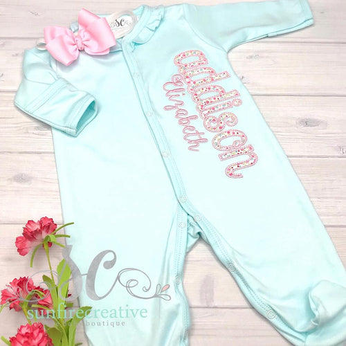 Baby Girl Coming Home Outfit - Name Outfit