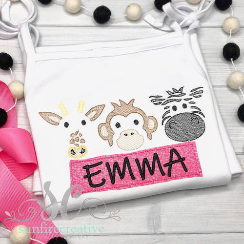 Girls Zoo Animal Dress