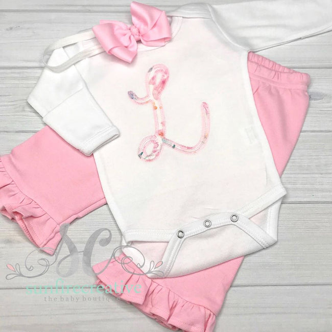Girls Personalized Outfit - Coming Home Outfit - Sunfire Creative Baby Boutique