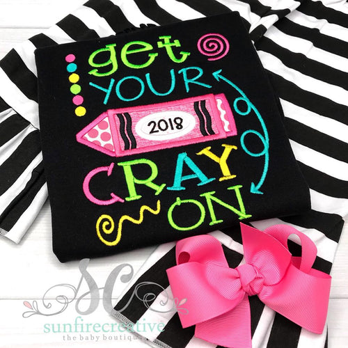 Get Your Cray On Back to School Girls Outfit