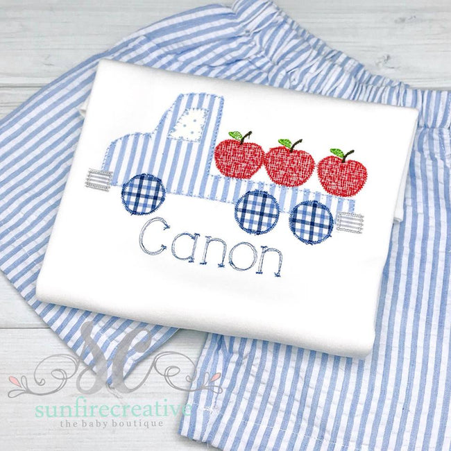 Back to School Shirt - School Truck Shirt - Sunfire Creative Baby Boutique