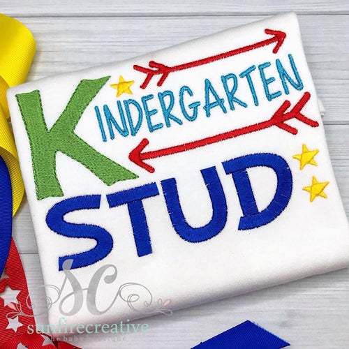 Back to School Shirt - Kindergarten Stud Shirt