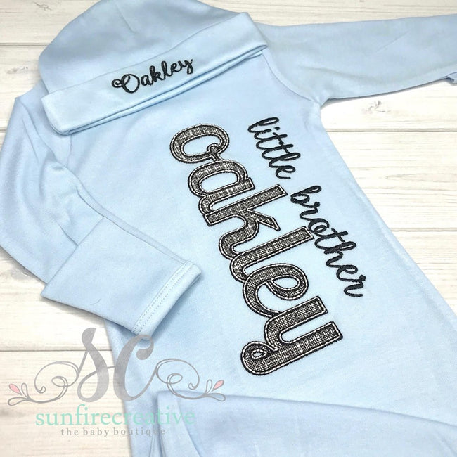 Baby Boy Coming Home Gown - Sunfire Creative Baby Boutique