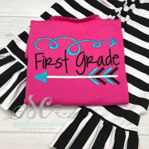 Girls First Grade Outfit - Back To School Outfit