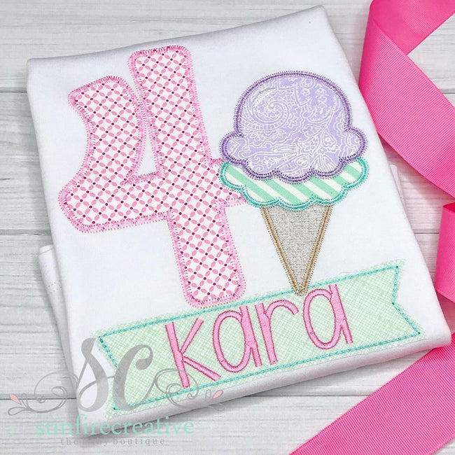 Birthday Girl Shirt - Ice Cream Birthday Shirt - Sunfire Creative Baby Boutique