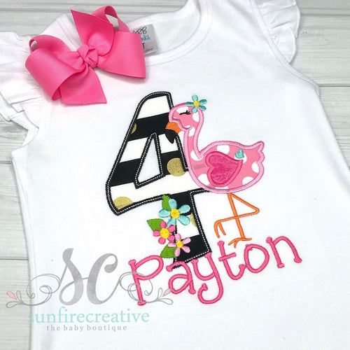 Birthday Girl Shirt - Flamingo Birthday Shirt