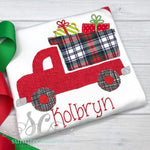 Christmas Dump Truck Shirt - Boys Christmas Shirt