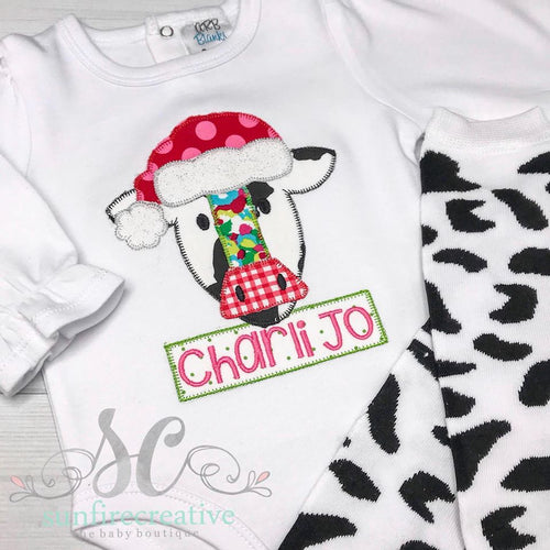 Christmas Cow Shirt