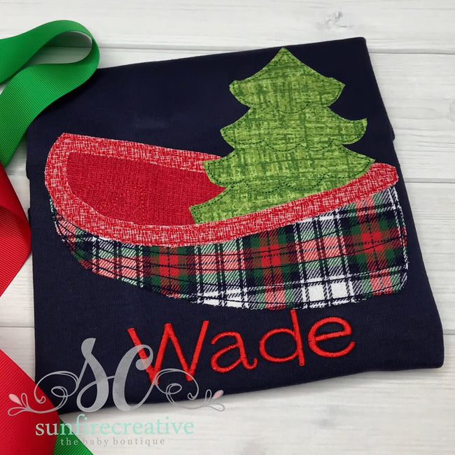 Boy Christmas Shirt - Christmas Boat Shirt - Sunfire Creative Baby Boutique