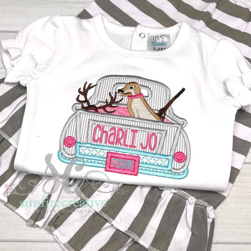 Girls Hunting Outfit - Hunting Truck Shirt