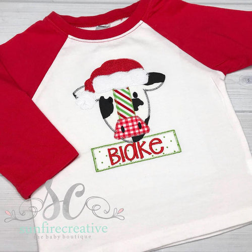 Christmas Shirt - Christmas Cow Shirt