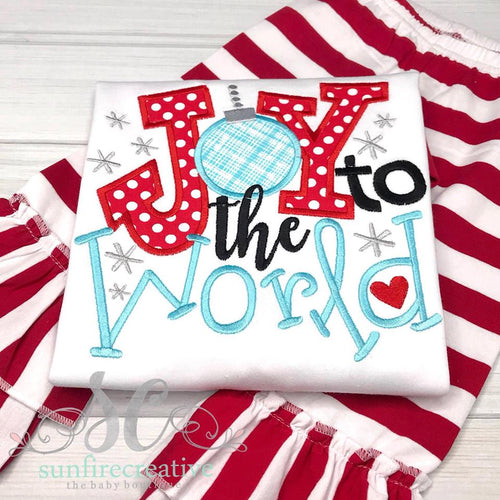 Joy to the World Outfit - Christmas Outfit