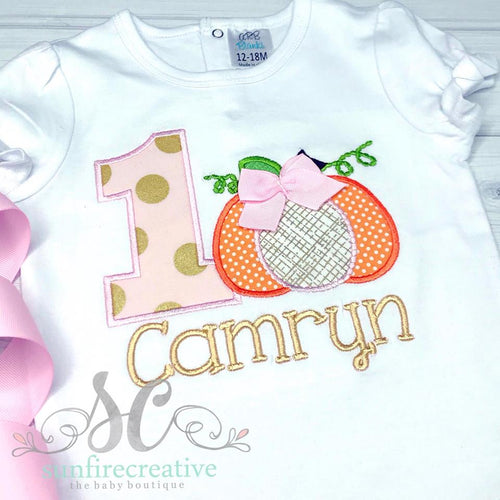 Girls Fall Birthday Shirt - Pumpkin Birthday Shirt