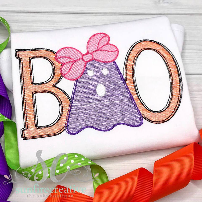 Boo Shirt for Girls - Halloween Shirt - Sunfire Creative Baby Boutique