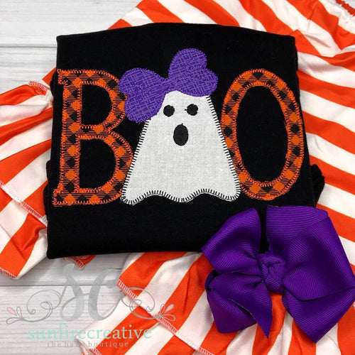 Girls Boo Halloween Outfit