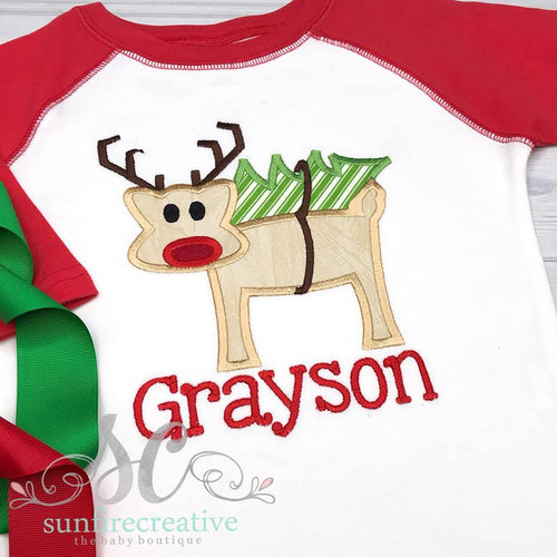 Reindeer Shirt for Boys - Christmas Shirt