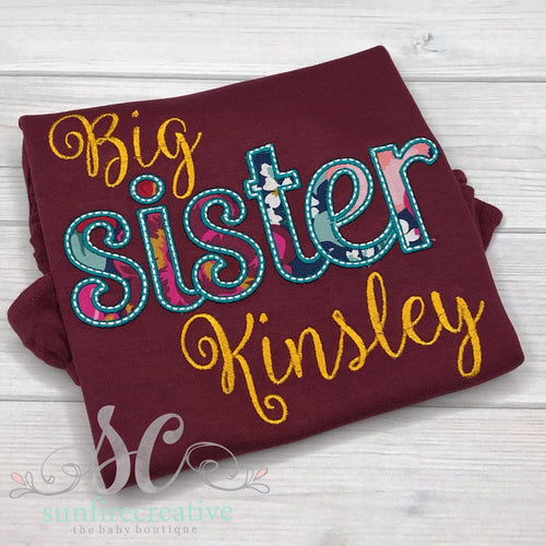 Maroon Big Sister Shirt