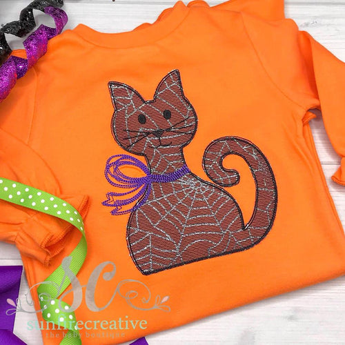 Girls Halloween Shirt - Cat Shirt