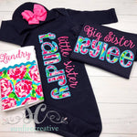 Sibling Set - Sister Set - Baby Gown