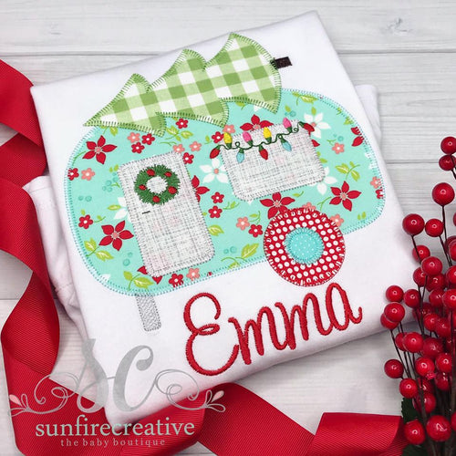 Girls Christmas Camper Outfit - Girls Christmas Outfit