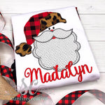 Buffalo Plaid and Leopard Santa