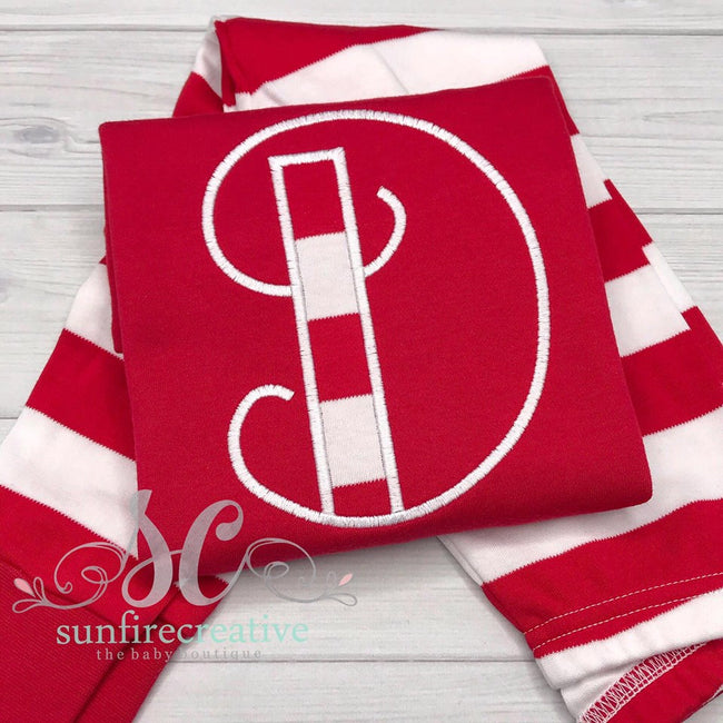 Initial Pajamas - Personalized Red Pajamas - Sunfire Creative Baby Boutique