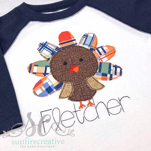 Thanksgiving Shirt - Turkey Raglan Shirt