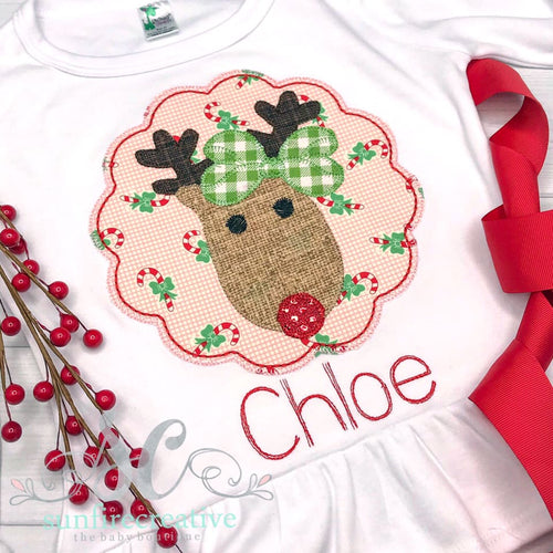Red Nosed Reindeer Girl Shirt