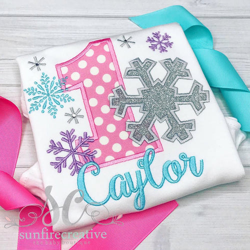 Snowflake Birthday Shirt
