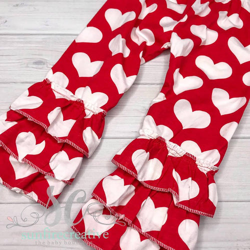 Heart Ruffle Pants